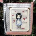 Gorjuss-lányos táska, Táska, Válltáska, oldaltáska, Pamutvászonból készült ez a Gorjuss-lányos táska. Méreténél figyelembe vettem, hogy A4-es d..., Meska