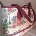 Bohém rózsás táska, Táska, Válltáska, oldaltáska, Azoknak a hölgyeknek ajánlom, akik szeretik a virágos kiegészítőket.   Mérete alapján kényelmesen be..., Meska