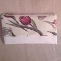 Rita tulipános neszi vagy tollartó, Táska, Neszesszer, A Rita tulipános táska kiegészítője, vagy önmagában is megvásárolható 20×10 cm méretű, cipzáras nesz..., Meska