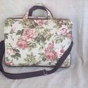 Vintage laptop táska, Táska, Laptoptáska, Férfi táska, Egy igazán csajos kézműves laptop táska.Pamut- vászonból készült műbőrrel kombinálva. Belül pamutvás..., Meska
