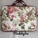 Vintage laptop táska, Egy színes, kézműves laptop táska. Kívül vin...