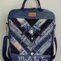 Multifunkciós farmer táska/hátitáska, Táska, Hátizsák, Válltáska, oldaltáska, Nagyon jól kihasználható táska. Mérete 30x35x8 cm.  Belül egy cipzáros és két nyitott zsebbel. A hát..., Meska