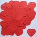 Szív-csomag - ültetőkártya, Esküvő, Naptár, képeslap, album, Meghívó, ültetőkártya, köszönőajándék, Ajándékkísérő, Papírművészet, (Nézz körül Milevi boltomban is.)  50 db lyukasztott mintával díszített szívet tartalmazó csomag.  ..., Meska