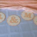 MR és  MRS felirat - esküvői fotózáshoz, asztal- vagy háttér-dekorációhoz, Esküvő, Naptár, képeslap, album, Esküvői dekoráció, Ajándékkísérő, Asztaldísz, Papírművészet, (Nézz körül Milevi boltomban is.)  A feliratot kérheted szalagra fűzve, és szalag nélkül is. Ajánlo..., Meska