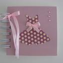 Album (napló) lánybúcsúra - jókívánságok gyűjtésére, emlékmegőrzésre  -mályva-rózsaszín, Esküvő, Naptár, képeslap, album, Nászajándék, Fotóalbum, Papírművészet, (Nézz körül Milevi boltomban is)  Lánybúcsúztatóra készült a napló(album), melybe jókívánságok és a..., Meska
