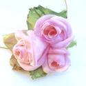 Igazából rózsaszín -textilékszer-rózsás nyakék, Ékszer, óra, Medál, Nyaklánc, Ékszerkészítés, Hamvas, ártatlan romantika.Egy igazi rózsás árnyalat, valódi nőies hatás. Ha ezt viseled, a hatás n..., Meska