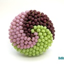 Spirálos 3 színű kerek gyűrű IX., Ékszer, Gyűrű, Most épp matt japán gyöngyökből mályva, almazöld és csokibarna színek kombinációjából készítettem el..., Meska