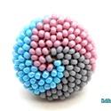 Spirálos 3 színű kerek gyűrű XXIII., Ékszer, Gyűrű, Ballagás, Szürke, lüszteres világoskék, valamint mályva színű japán kásagyöngyökből készítettem el ezt a spirá..., Meska