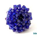 Impozáns kobaltkék swarovski gyűrű, Ékszer, Gyűrű, Gyöngyfűzés, Igazán feltűnő, biztos nem maradsz észrevétlen, ha ezt a kobalt (vagy király) kék színű gyűrűt vise..., Meska