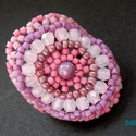 Lila rózsaszín gyűrű, Ékszer, Gyűrű, Ballagás, Egyik kedvenc gyűrűmintám, több verzióban is elkészítettem Biloba mintája alapján. Most  csiszolt op..., Meska