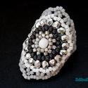 Ezüst szürke gyűrű, Ékszer, Gyűrű, Ballagás, Egyik kedvenc gyűrűmintám, több verzióban is elkészítettem Biloba mintája alapján. Most  csiszolt fe..., Meska