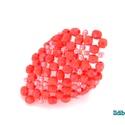 Korall színű elegáns gyűrű, Ékszer, Gyűrű, Ballagás, Nőies és elegáns ez a 3 mm-es csiszolt korall piros színű gyöngyből és kásagyöngyből álló gyűrű, mel..., Meska