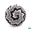 Spirál mintás gyűrű 4 színből (fehér, ezüst, szürke, fekete), Ékszer, Anyák napja, Gyűrű, 2018-as újdonság! Új fajta spirál mintával, 4 színből (fehér, ezüst, szürke, fekete) 15/0-s japán ká..., Meska
