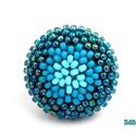 Színátmenetes kék kerek gyűrű, Ékszer, Gyűrű, A népszerű kerek minimalista gyűrűm újabb verziója: A kék különböző árnyalataiból (baba-, azúr- és i..., Meska
