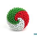 Piros fehér zöld spirálos kerek gyűrű, Ékszer, Magyar motívumokkal, Gyűrű, Kokárda, Március 15 alkalmából készítettem ezt a nemzeti színekből álló tricolor gyűrűt, amit használhatsz ko..., Meska
