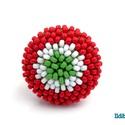 Kokárdás kerek gyűrű, Ékszer, Magyar motívumokkal, Gyűrű, Kokárda, Március 15 alkalmából készítettem ezt a nemzeti színekből álló tricolor gyűrűt, amit használhatsz ko..., Meska