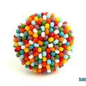 Cukorka kerek gyűrű 2., Ékszer, Gyűrű, A minimalista kerek gyűrűmet most egy szín helyett 9 színű japán gyöngyből készítettem el, így a vég..., Meska