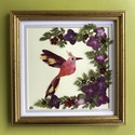 Kolibri 18cm18cm, Dekoráció, Otthon, lakberendezés, Kép, Falikép, Saját gyűjtésű nemes virágokból készített fali dekoráció, Meska
