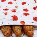 Frissentartó kenyeres zsák pul belsővel - nagy méret, Környezetbarát, többször használható kenyér...