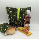 Uzsonnás táska snackbaggel - Lunch bag - Zero waste , Környezetbarát, újrahasználható uzsonnás tá...