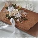Esküvői pénzátadó dísz boríték, kézzel hímzett.  , Esküvő, Naptár, képeslap, album, Nászajándék, Ajándékkísérő, Esküvőre elegáns díszboríték nászajándék pénz átadáshoz. 21x10 cm a mérete, belül is ugyanez az anya..., Meska