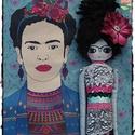 Sellőbaba Frida feelingben .... Mermaid doll, doll, Baba-mama-gyerek, Dekoráció, Otthon, lakberendezés, Lakástextil, Baba-és bábkészítés, Varrás, Sellőbaba Frida feelingben megálmodva és kivitelezve, különböző szerkezetű és mintázatú szövetek, c..., Meska