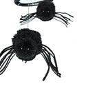 Pókos lógós, Otthon, lakberendezés, Dekoráció, Dísz, Mindenmás, Ezüst színű hálót szövögető két darab fekete pókocska. Lógó dísz, ajtóra, ablakra, falra akasztható..., Meska