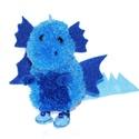 Kék sárkány kék papucsban, Dekoráció, Otthon, lakberendezés, Mindenmás, Saját tervezésű és készítésű kék színű papucsos kis sárkány :)  A képen láthatót már elvitték, de k..., Meska