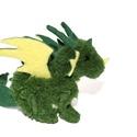 Erdei sárkány, Dekoráció, Otthon, lakberendezés, Mindenmás, Varrás, Korábbi sárkányaim nagyobb, komolyabb, továbbfejlesztett változata. Ő itt egy erdei sárkány, zöld-s..., Meska