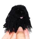 Mini puli - fekete, Dekoráció, Otthon, lakberendezés, Mindenmás, Ici-pici puli kutyuska feketében.  Feje, teste fekete fonalból készített pompon. Lába zseníliadrót...., Meska