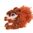 Barna cirmókus - AKCIÓ!, Dekoráció, Otthon, lakberendezés, Mindenmás, Régebbi vörös mókuskám megújulva, pihe-puha óriás farkincával várja befogadóját.  Fehér, vörös és s..., Meska