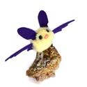 Lila - sárga pöttyös denevér, Dekoráció, Otthon, lakberendezés, Mindenmás, Varrás, Apró szárnyaló denevér lila-sárga fehér pöttyös szárnyakkal. Halloweenre vagy csak úgy! :)  (Kérhet..., Meska