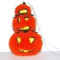 Halloween-i töktrió - AKCIÓ, Dekoráció, Otthon, lakberendezés, Mindenmás, Egyedi, saját tervezésű és készítésű felakasztható Halloween-i tök fejek. A tökök fonalból készítet..., Meska