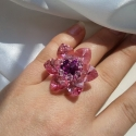 Pink paradise swarovski szívecskés gyűrű, Ékszer, óra, Gyűrű, Ékszerkészítés, Gyöngyfűzés, A gyöngyörű vízililiomok ihlették ezt a 3,5 cm átmérőjű, gyöngyörű, szikrázó gyűrűt. Rose AB színű ..., Meska