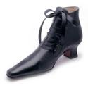 Magasszárú kapcsos cipő, Ruha, divat, cipő, Cipő, papucs, Bőrművesség, Kézzel készült , 100 % bőr cipő , kapcsokban selyemszalag fűzővel , fa sarokkal . Méretek : 36 - 40, Meska