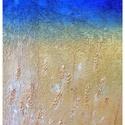 """""""Il campo"""", Képzőművészet, Festmény, Festmény vegyes technika, Festészet, Akril festmény. Faroslemezre kasírozott vászon. Méret: 85*45, Meska"""