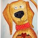 Baby szoba dekor (kutya), Baba-mama-gyerek, Gyerekszoba, Gyerekbútor, Baba falikép, Egyedi, kézzel készült, gyerek-baby szoba dekoráció . Mérete képenként: 21*29cm. Az ár kép..., Meska