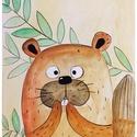 Gyerekszoba dekoráció , Baba-mama-gyerek, Dekoráció, Gyerekszoba, Baba falikép, Festészet, Egyedi, kézzel készült akvarell, gyerek-baby szoba dekoráció . Mérete képenként: 21*29cm. Az ár kép..., Meska