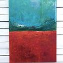 Pipacsmező festmény , Képzőművészet, Festmény, Akril, Napi festmény, kép, Pipacsmező  Legújabb alkotasaim egyike, mely hangulatában erős szerepet játszik a piros és tü..., Meska