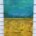 Repceföld. Festmény., Képzőművészet, Festmény, Akril, Napi festmény, kép, Vászonra festett 50*70cm méretű festményem óriási energiákat hordoz, hiszen a sárga az élte..., Meska