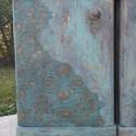Egyedi festésű, antikolt komód, szekrény 2 db, Bútor, Otthon, lakberendezés, Szekrény, Komód, Két régi éjjeliszekrényt újítottam meg egyedi antikolt festéssel, csipke betéttel vaxolva. E..., Meska