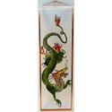 Kínai sárkány - Üvegkép, Dekoráció, Otthon, lakberendezés, Férfiaknak, Legénylakás, Festett tárgyak, Üvegművészet, A sárkány az erőt (hatalmat), kreativitást, mennyországot és a jó szerencsét szimbolizálja.  Üvegre..., Meska
