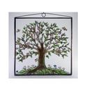 Életfa , Dekoráció, Otthon, lakberendezés, Kép, Falikép, Savmart üvegre festett, antikolt kép.  Mérete: 20 cm x 20 cm   , Meska