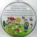 Ballagási ajándék üvegkép óvó néninek - Üveg, Üvegkép, Otthon & Lakás, Dekoráció, Kép & Falikép, Üvegművészet, Festett tárgyak, Egyedi, különleges ballagási ajándék óvónéninek vagy dadusnéninek. Áttetsző üvegre festett, tiffany..., Meska