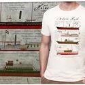 balatoni hajók, Ruha, divat, cipő, Férfi ruha, Fotó, grafika, rajz, illusztráció, Mindenmás, Ezt a grafikát a Balaton és a balatoni hajók előtt tisztelegve készítettük, a hajókat gondos részle..., Meska