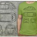 Volkswagen bogár rendelhető rendszámmal, Férfiaknak, Ruha, divat, cipő, Férfi ruha, Urban pólók, Mindenmás, Ezen a pólón a VW eredeti gyártmányterve látható: oldalt-, elöl-, hátul- és felülnézetben. Ha szere..., Meska