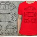 Volkswagen bogár rendelhető rendszámmal, Férfiaknak, Táska, Divat & Szépség, Férfi ruha, Ruha, divat, Urban pólók, Ezen a pólón a VW eredeti gyártmányterve látható: oldalt-, elöl-, hátul- és felülnézetben. Ha szeret..., Meska