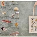 Ehető gombák  textiltáskán, Táska, Divat & Szépség, Táska, Válltáska, oldaltáska, Tarisznya, Szatyor, Ehető magyarországi gombák textiltáskán képpel vagy névvel.  100% pamut textiltáska, natúr színű, kö..., Meska