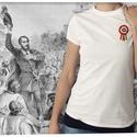 kokárdás póló hölgyeknek, Ruha, divat, cipő, Kokárda, Női ruha, Felsőrész, póló, Ezt a grafikát a forradalom hősei előtt tisztelegve készítettük.  Méretet megjegyzésben lehe..., Meska