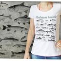 Balatoni halak női Stars pólón, Otthon & lakás, Táska, Divat & Szépség, Képzőművészet, Női ruha, Ruha, divat, Ezt a grafikát a Balaton, a halak és a horgászat kedvelőinek készítettük. Női verzió.   Méretet üzen..., Meska